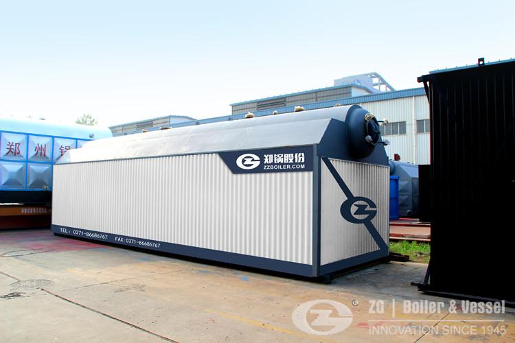 SZL Horizontal biomasa despedido caldera de vapor